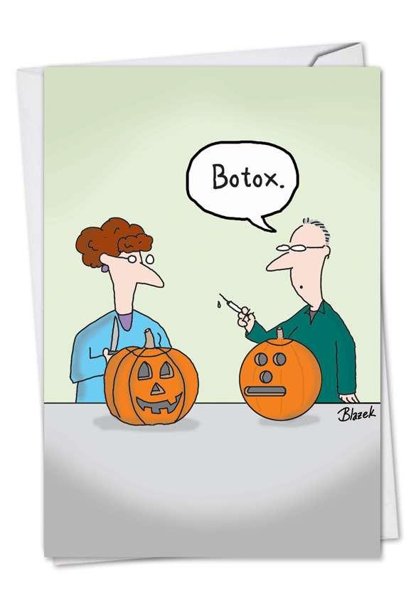 Botox Pumpkin Halloween Card By Nobleworks