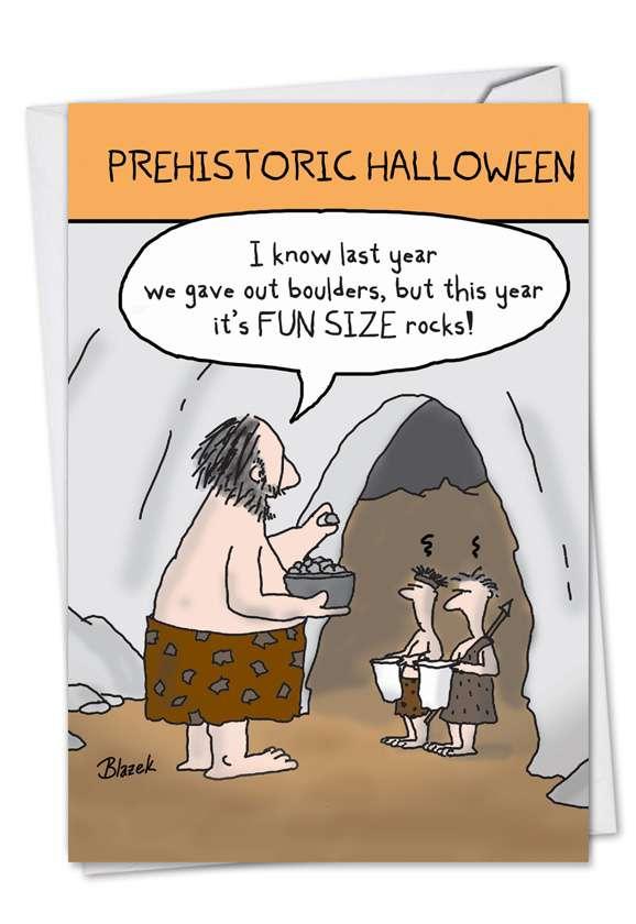 Prehistoric Halloween Halloween Paper Card By Nobleworks