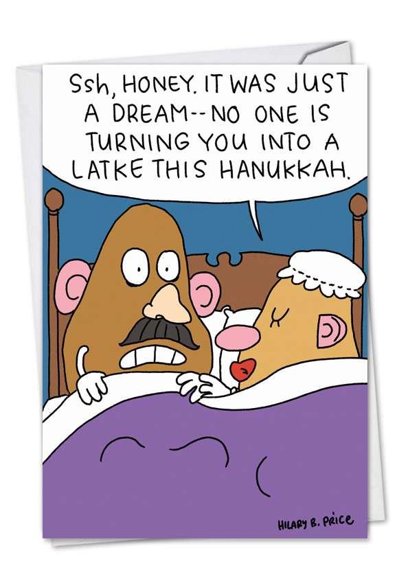 Hanukkah Potatoheads Hanukkah Paper Card By Nobleworks