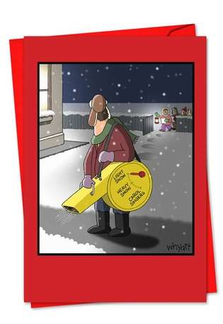 Snow Blower Settings Christmas Card By Nobleworks