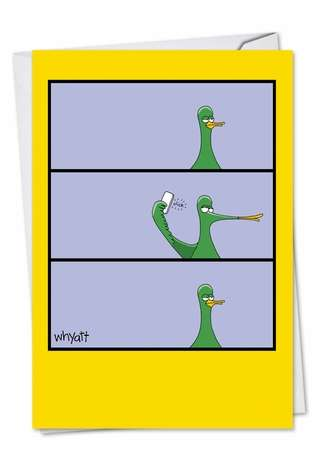 Duck Face Birthday Paper Card By Nobleworks