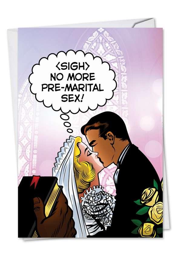 Pre-Marital Sex Bachelorette Card By Nobleworks