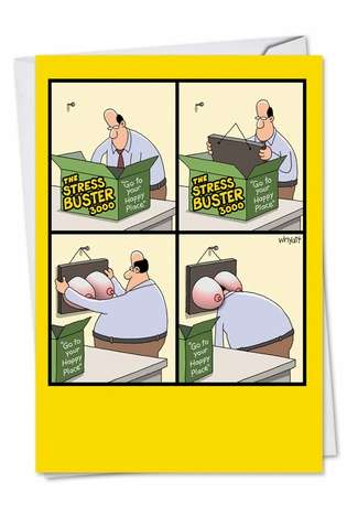 Stress Buster Birthday Card By Nobleworks